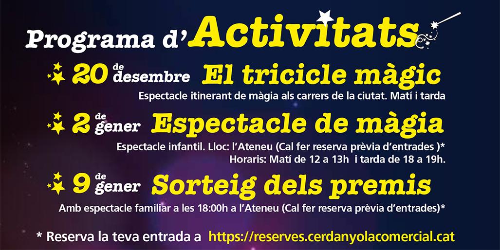 Programa d'activitats de Nadal 2020 a Cerdanyola