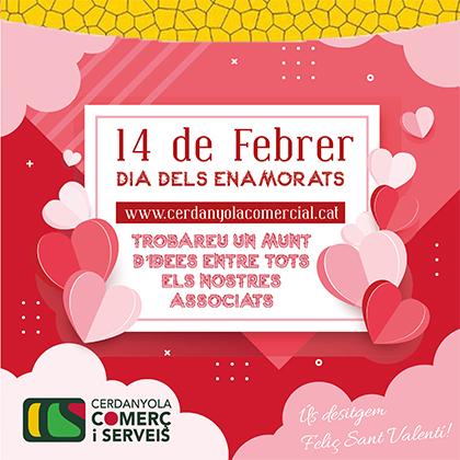 Cartell del Día dels Enamorats de Cerdanyola Comerç i Serveis de Cerdanyola